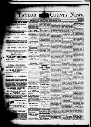 Primary view of object titled 'The Taylor County News. (Abilene, Tex.), Vol. 8, No. 26, Ed. 1 Friday, August 19, 1892'.