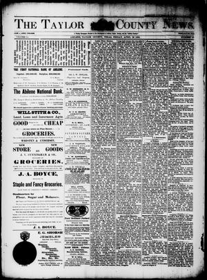 Primary view of object titled 'The Taylor County News. (Abilene, Tex.), Vol. 11, No. 10, Ed. 1 Friday, April 26, 1895'.