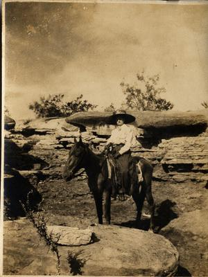Primary view of object titled 'Virginia Tucker Schulze on Horseback, 1910'.