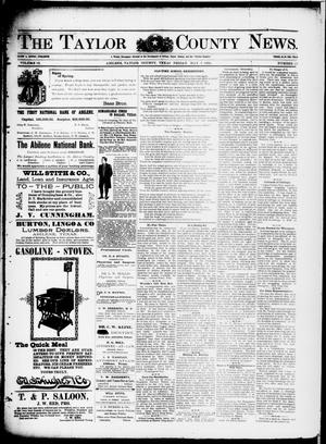 Primary view of object titled 'The Taylor County News. (Abilene, Tex.), Vol. 12, No. 12, Ed. 1 Friday, May 8, 1896'.