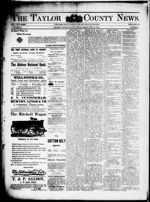 Primary view of object titled 'The Taylor County News. (Abilene, Tex.), Vol. 12, No. 31, Ed. 1 Friday, September 11, 1896'.