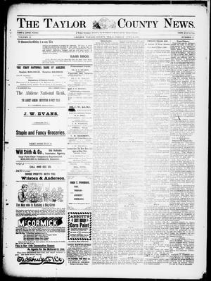 Primary view of object titled 'The Taylor County News. (Abilene, Tex.), Vol. 13, No. 17, Ed. 1 Friday, June 4, 1897'.