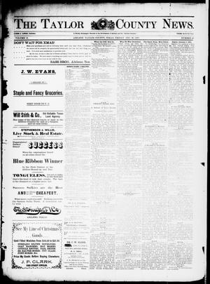 Primary view of object titled 'The Taylor County News. (Abilene, Tex.), Vol. 13, No. 47, Ed. 1 Friday, December 31, 1897'.