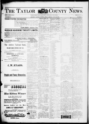 Primary view of object titled 'The Taylor County News. (Abilene, Tex.), Vol. 14, No. 3, Ed. 1 Friday, February 25, 1898'.