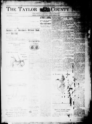 Primary view of object titled 'The Taylor County News. (Abilene, Tex.), Vol. 15, No. 56, Ed. 1 Friday, March 3, 1899'.