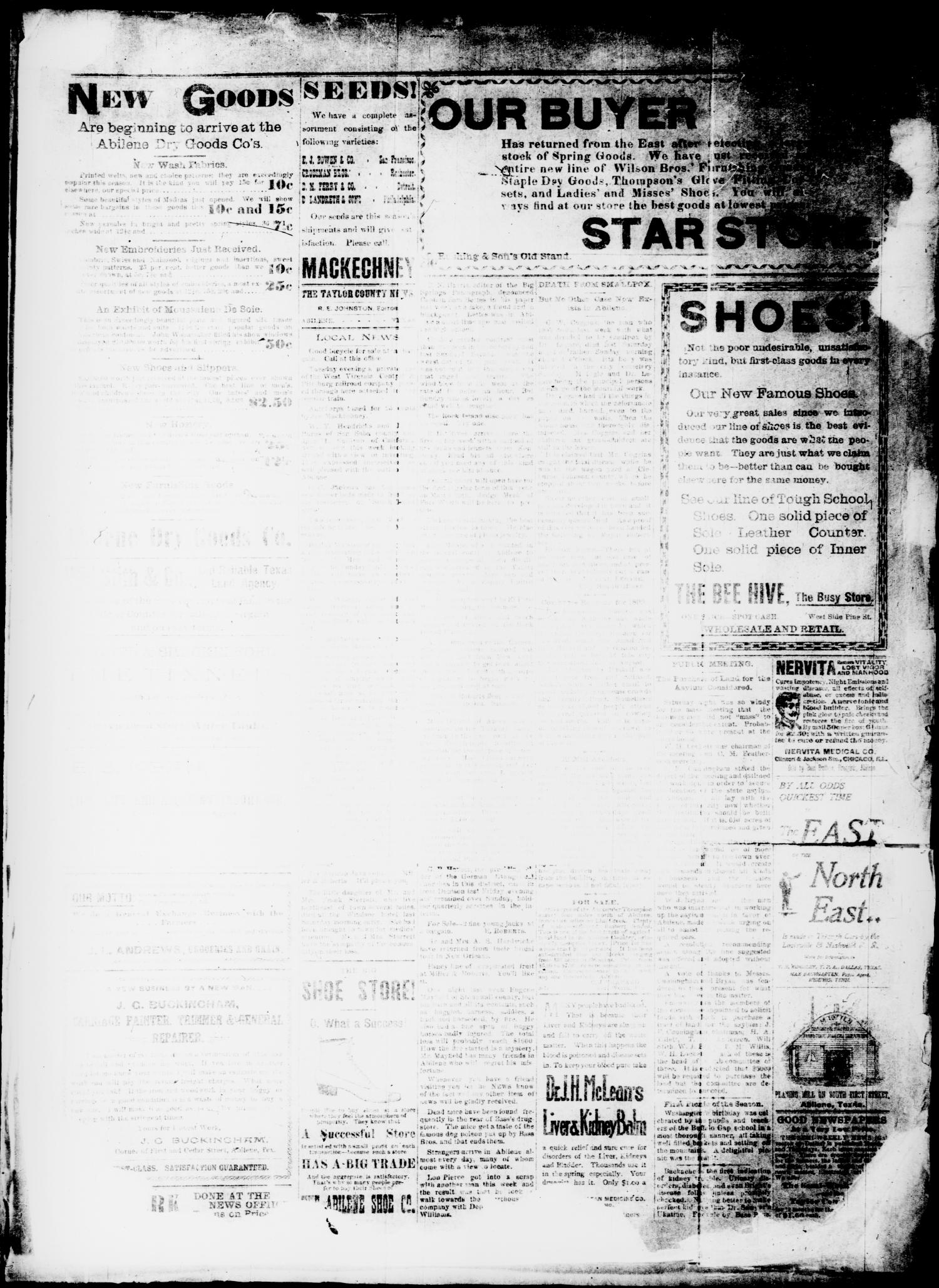 The Taylor County News. (Abilene, Tex.), Vol. 15, No. 56, Ed. 1 Friday, March 3, 1899                                                                                                      [Sequence #]: 3 of 6