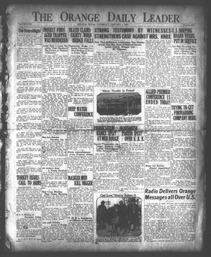 Primary view of object titled 'The Orange Daily Leader (Orange, Tex.), Vol. 8, No. 313, Ed. 1 Thursday, January 4, 1923'.