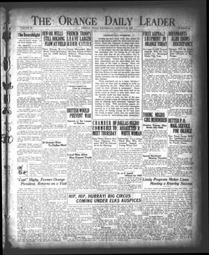 Primary view of object titled 'The Orange Daily Leader (Orange, Tex.), Vol. 9, No. 20, Ed. 1 Wednesday, January 24, 1923'.