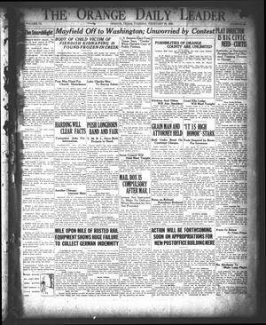 Primary view of object titled 'The Orange Daily Leader (Orange, Tex.), Vol. 9, No. 49, Ed. 1 Tuesday, February 27, 1923'.