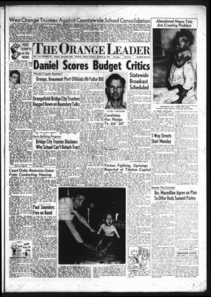 Primary view of object titled 'The Orange Leader (Orange, Tex.)., Vol. 56, No. 69, Ed. 1 Sunday, March 22, 1959'.
