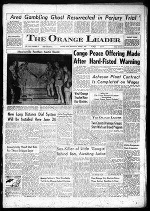 Primary view of object titled 'The Orange Leader (Orange, Tex.), Vol. 58, No. 52, Ed. 1 Wednesday, March 1, 1961'.