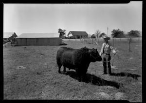 Primary view of object titled '[Ranch Hand with Bull]'.