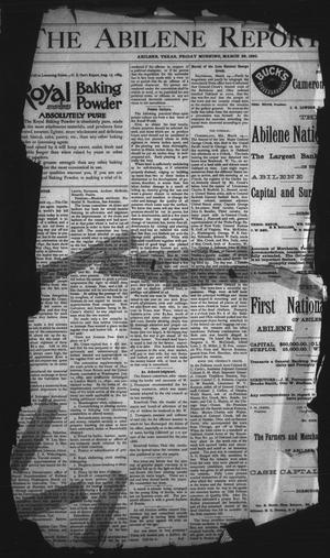 Primary view of object titled 'The Abilene Reporter. (Abilene, Tex.), Vol. 9, No. 13, Ed. 1 Friday, March 28, 1890'.