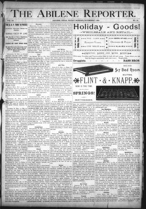 Primary view of object titled 'The Abilene Reporter. (Abilene, Tex.), Vol. 9, No. 45, Ed. 1 Friday, November 7, 1890'.