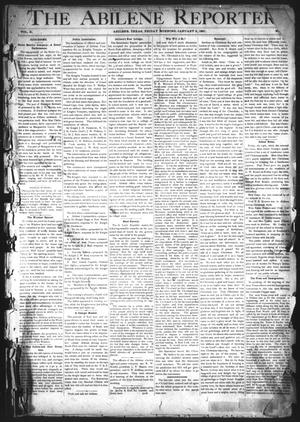 Primary view of object titled 'The Abilene Reporter. (Abilene, Tex.), Vol. 10, No. 1, Ed. 1 Friday, January 2, 1891'.