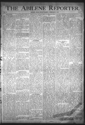 Primary view of object titled 'The Abilene Reporter. (Abilene, Tex.), Vol. 10, No. 9, Ed. 1 Friday, February 27, 1891'.