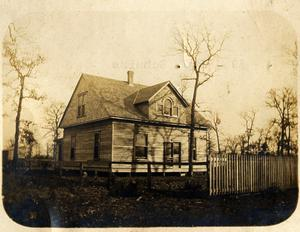 Primary view of object titled 'J. O. Schulze's House in Irving, c. 1904'.