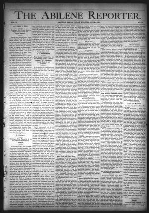 Primary view of object titled 'The Abilene Reporter. (Abilene, Tex.), Vol. 10, No. 23, Ed. 1 Friday, June 5, 1891'.