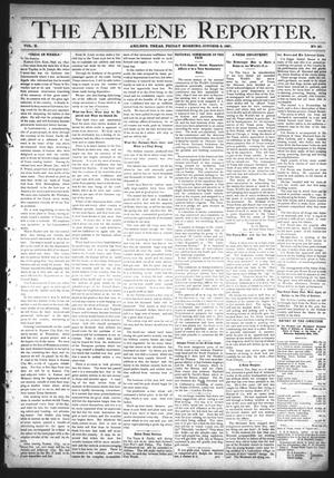 Primary view of object titled 'The Abilene Reporter. (Abilene, Tex.), Vol. 10, No. 40, Ed. 1 Friday, October 2, 1891'.
