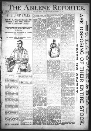 Primary view of object titled 'The Abilene Reporter. (Abilene, Tex.), Vol. 10, No. 47, Ed. 1 Friday, November 20, 1891'.