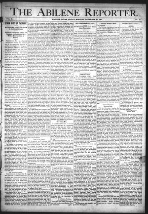Primary view of object titled 'The Abilene Reporter. (Abilene, Tex.), Vol. 10, No. 48, Ed. 1 Friday, November 27, 1891'.