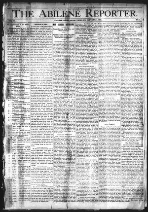Primary view of object titled 'The Abilene Reporter. (Abilene, Tex.), Vol. 11, No. 1, Ed. 1 Friday, January 1, 1892'.