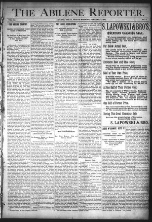 Primary view of object titled 'The Abilene Reporter. (Abilene, Tex.), Vol. 11, No. 2, Ed. 1 Friday, January 8, 1892'.