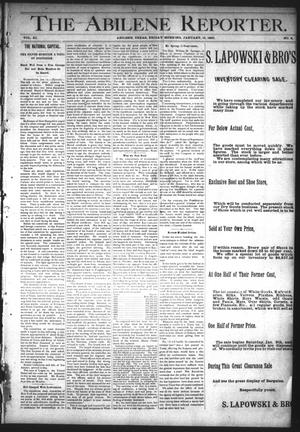 Primary view of object titled 'The Abilene Reporter. (Abilene, Tex.), Vol. 11, No. 3, Ed. 1 Friday, January 15, 1892'.