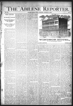 Primary view of object titled 'The Abilene Reporter. (Abilene, Tex.), Vol. 11, No. 5, Ed. 1 Friday, January 29, 1892'.