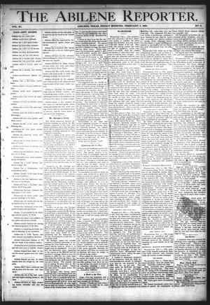 Primary view of object titled 'The Abilene Reporter. (Abilene, Tex.), Vol. 11, No. 6, Ed. 1 Friday, February 5, 1892'.