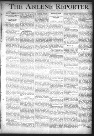 Primary view of object titled 'The Abilene Reporter. (Abilene, Tex.), Vol. 11, No. 8, Ed. 1 Friday, February 19, 1892'.