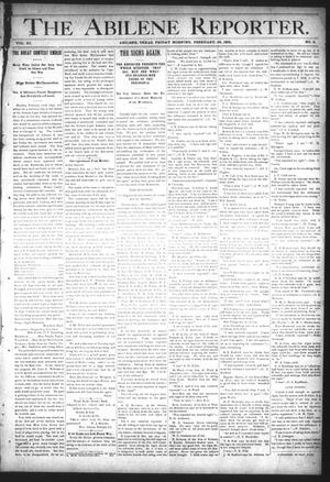 Primary view of object titled 'The Abilene Reporter. (Abilene, Tex.), Vol. 11, No. 9, Ed. 1 Friday, February 26, 1892'.