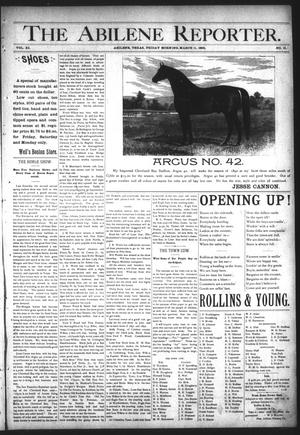 Primary view of object titled 'The Abilene Reporter. (Abilene, Tex.), Vol. 11, No. 11, Ed. 1 Friday, March 11, 1892'.