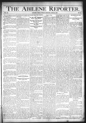 Primary view of object titled 'The Abilene Reporter. (Abilene, Tex.), Vol. 11, No. 16, Ed. 1 Friday, April 15, 1892'.