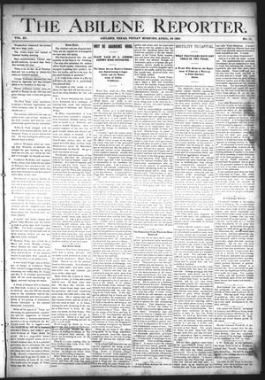 Primary view of object titled 'The Abilene Reporter. (Abilene, Tex.), Vol. 11, No. 17, Ed. 1 Friday, April 22, 1892'.