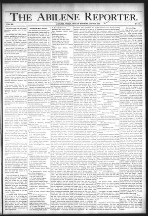 Primary view of object titled 'The Abilene Reporter. (Abilene, Tex.), Vol. 11, No. 25, Ed. 1 Friday, June 17, 1892'.