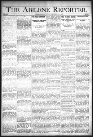 Primary view of object titled 'The Abilene Reporter. (Abilene, Tex.), Vol. 11, No. 27, Ed. 1 Friday, July 1, 1892'.