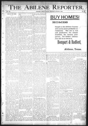 Primary view of object titled 'The Abilene Reporter. (Abilene, Tex.), Vol. 11, No. 32, Ed. 1 Friday, August 5, 1892'.