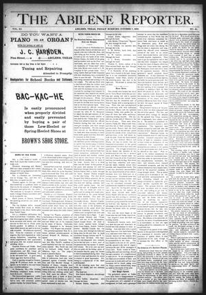 Primary view of object titled 'The Abilene Reporter. (Abilene, Tex.), Vol. 11, No. 41, Ed. 1 Friday, October 7, 1892'.