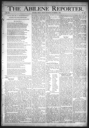 Primary view of object titled 'The Abilene Reporter. (Abilene, Tex.), Vol. 11, No. 45, Ed. 1 Friday, November 4, 1892'.
