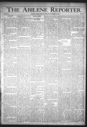 Primary view of object titled 'The Abilene Reporter. (Abilene, Tex.), Vol. 11, No. 47, Ed. 1 Friday, November 18, 1892'.