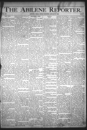 Primary view of object titled 'The Abilene Reporter. (Abilene, Tex.), Vol. 12, No. 4, Ed. 1 Friday, January 27, 1893'.