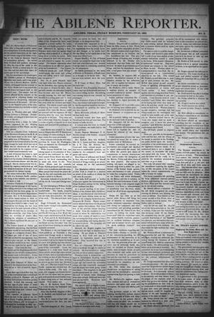 Primary view of object titled 'The Abilene Reporter. (Abilene, Tex.), Vol. 12, No. 8, Ed. 1 Friday, February 24, 1893'.