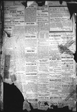 Primary view of object titled 'The Abilene Reporter. (Abilene, Tex.), Vol. 13, No. 2, Ed. 1 Thursday, January 18, 1894'.