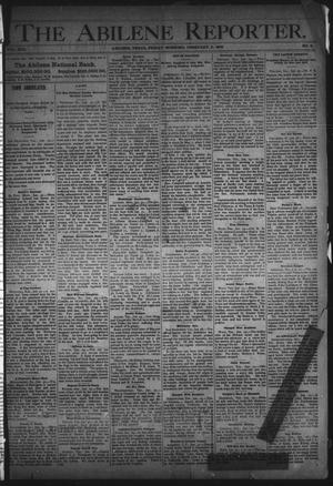 Primary view of object titled 'The Abilene Reporter. (Abilene, Tex.), Vol. 13, No. 5, Ed. 1 Friday, February 2, 1894'.