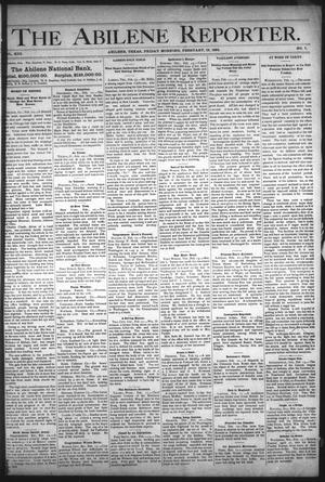 Primary view of object titled 'The Abilene Reporter. (Abilene, Tex.), Vol. 13, No. 7, Ed. 1 Friday, February 16, 1894'.