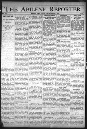 Primary view of object titled 'The Abilene Reporter. (Abilene, Tex.), Vol. 13, No. 9, Ed. 1 Friday, March 2, 1894'.