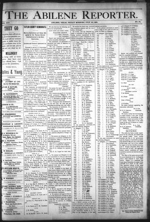 Primary view of object titled 'The Abilene Reporter. (Abilene, Tex.), Vol. 13, No. 29, Ed. 1 Friday, July 20, 1894'.