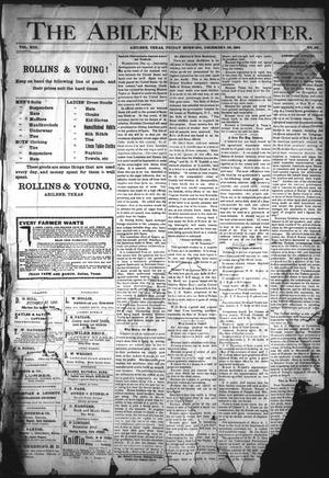 Primary view of object titled 'The Abilene Reporter. (Abilene, Tex.), Vol. 13, No. 52, Ed. 1 Friday, December 28, 1894'.