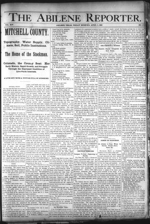 Primary view of object titled 'The Abilene Reporter. (Abilene, Tex.), Vol. 14, No. 17, Ed. 1 Friday, April 5, 1895'.